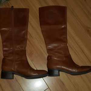 Etienne Aigner leather riding boots 6
